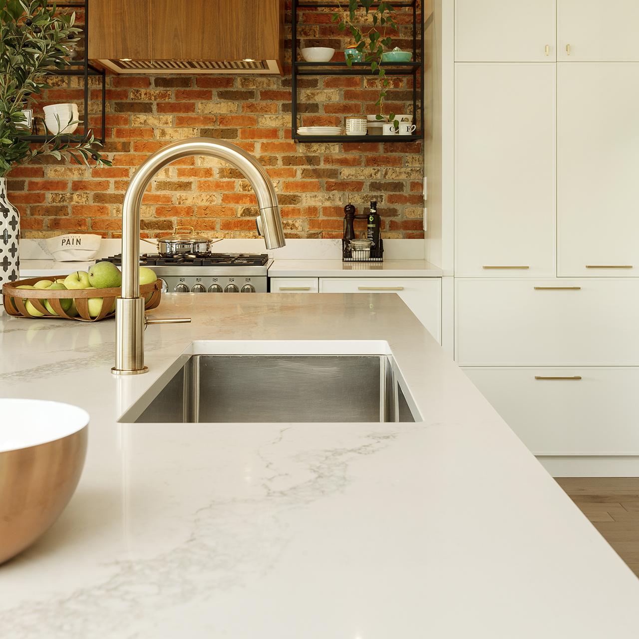 comptoirs quartz nouvelle cuisine armoires cuisines action