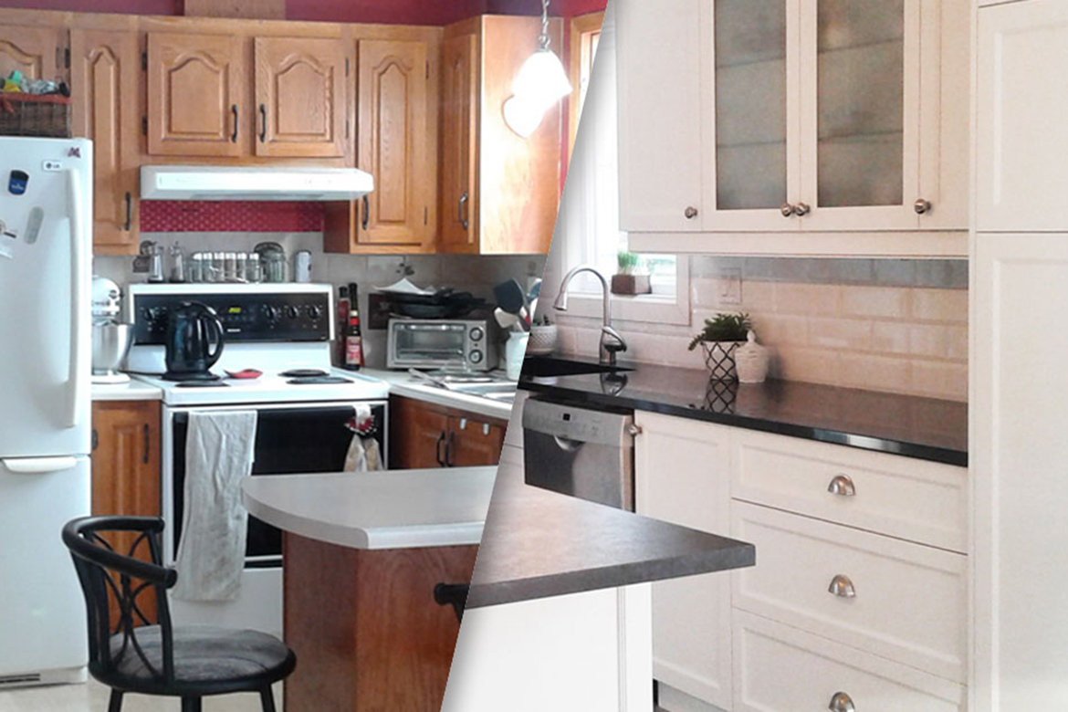 Before and after - Caroline's kitchen
