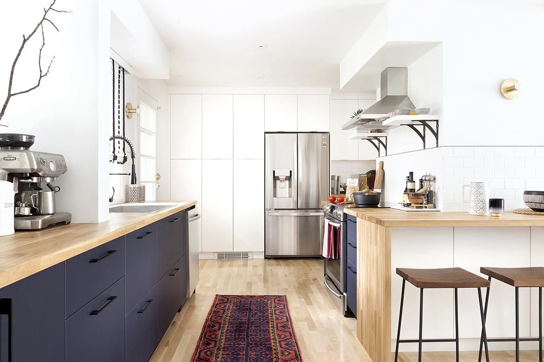 Bohemian mid-century kitchen